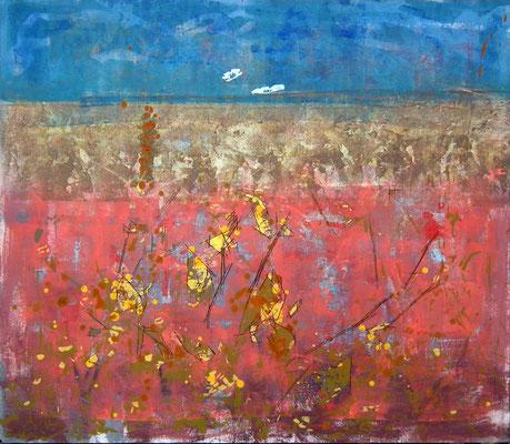 Vegetación 2. Oleo, acrílico y tinta sobre tabla. 87x75 cm. 900 euros.