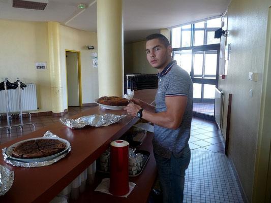 Florian Saurin, bénévole à la restauration et buvette.