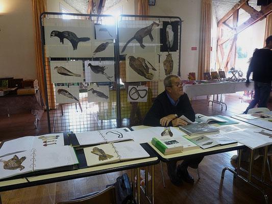 Roger Cans, ses natures mortes et secrétaire de l'association La Salamandre
