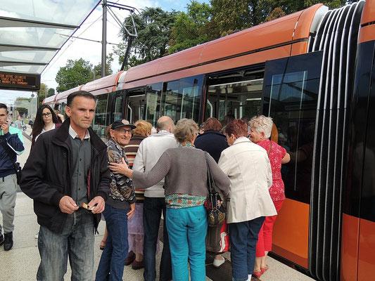 Première étape le tramway