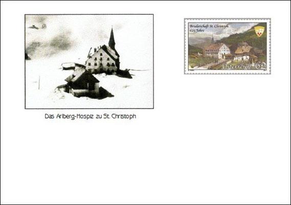 Kuvert 3 mit der offiziellen Postmarke