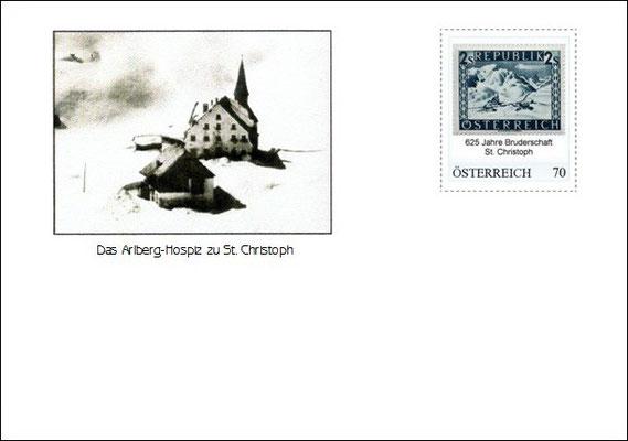 Kuvert 3 mit der personalisierten Briefmarke