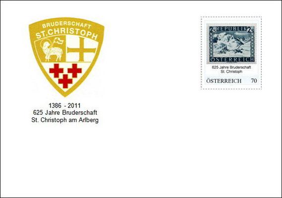 Kuvert 1 mit der personalisierten Briefmarke