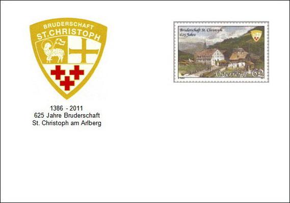 Kuvert 1 mit der offiziellen Postmarke