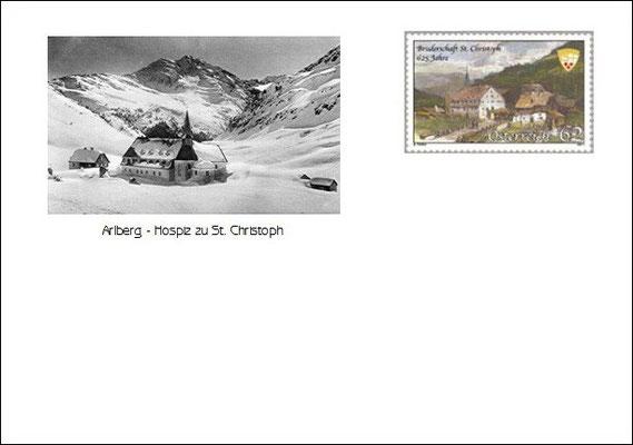 Kuvert 2 mit der offiziellen Postmarke