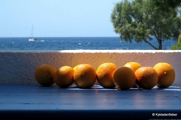 Orangen auf Milos