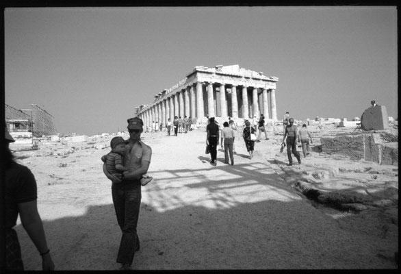 Der Partheon auf der Athener Akropolis