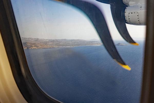Anflug auf Naxos
