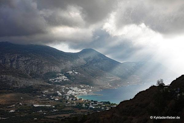 Amorgos, Blick auf die Bucht von Egiali