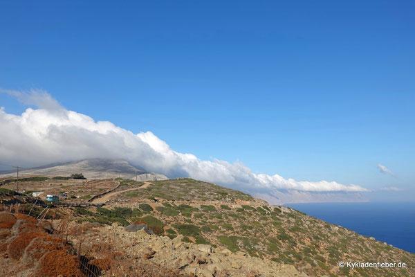 Amorgos, Wolken bis Egiali