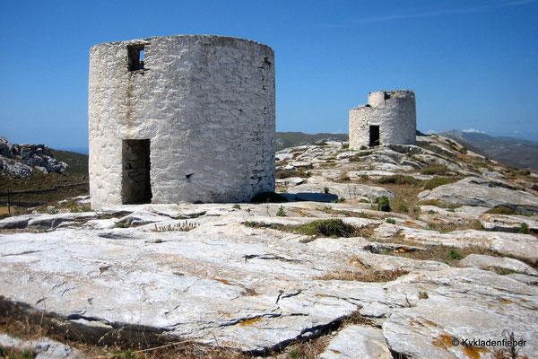 Amorgos, Mühlen bei Chora