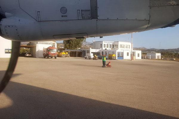 Ankunft am Naxos Airport