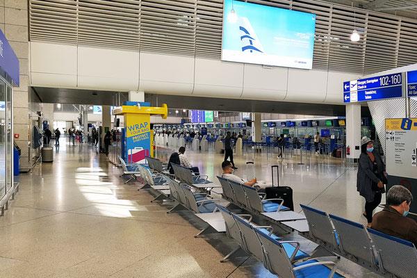 Nicht viel los im Athener Flughafen