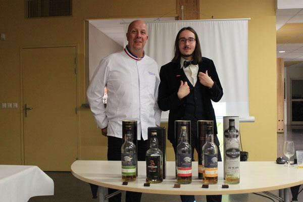 Philippe Bel & Samuel Dufour ont animé une dégustation chocolat & whisky