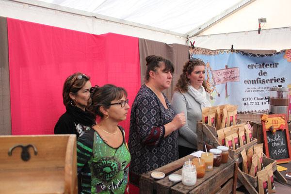 Caramel et chocolat sur le stand de Géraldine Veyret