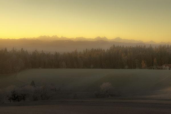 Sonnenaufgang, auf der Hochwacht.