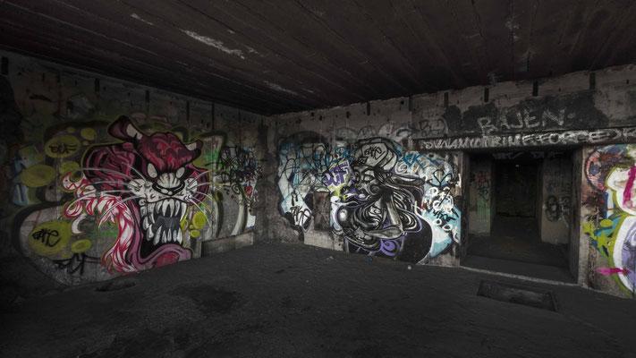 Bunker-Graffiti, Ijmuiden. Grössen und Preise auf Anfrage.