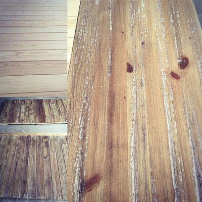 Decorazione con effetto finto legno