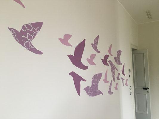 Decorazione camera bambine, dettaglio