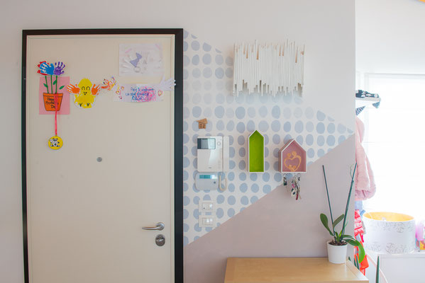 Decorazione di una parete di entrata, abitazione privata