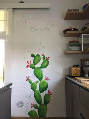 Decorazione di una cucina, casa privata
