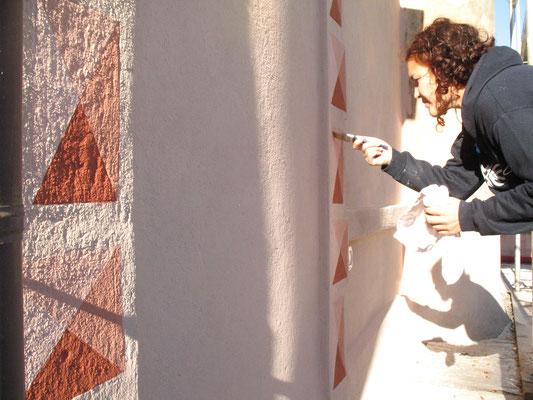 Decorazione esterni, con pittura ai silicati