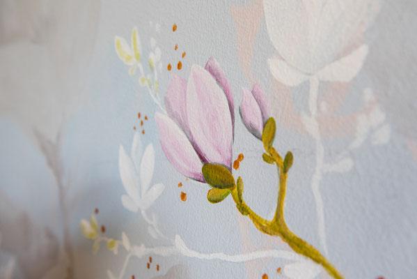 Decorazione di una parete in cucina, abitazione privata, dettaglio