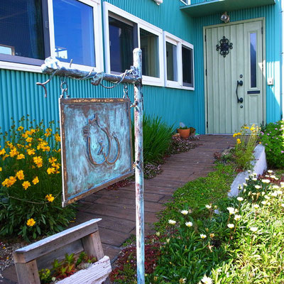 H邸   看板                                                                                                            真鍮  緑青仕上げ