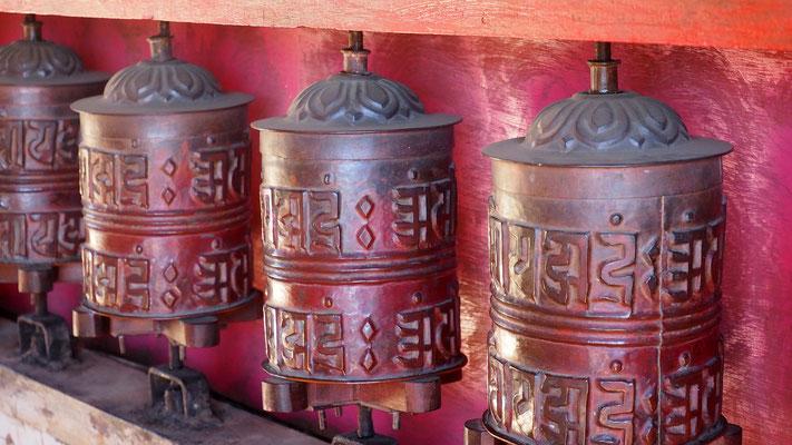 Nepal, Gebetsmühlen in Thame