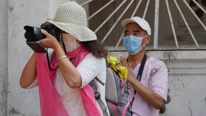 asiatische Touristen  in Pashupatinath