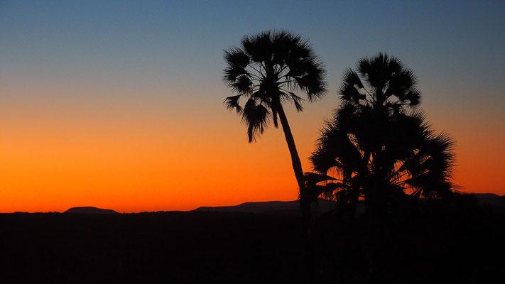 Sonnenuntergang in Palmwag