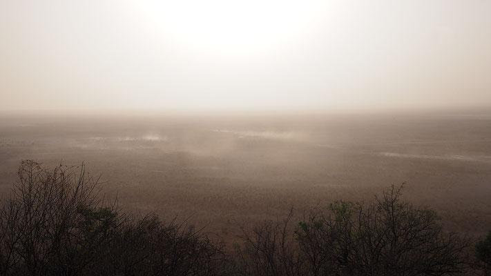 Namibia, Sandsturm in Etosha