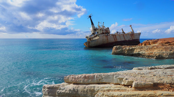 Edro II, ein gestrandetes Schiff (Zypern)