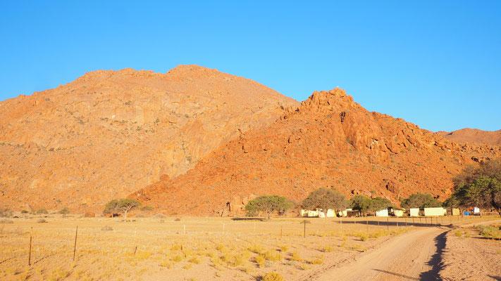 die Lage der Namtib Desert Lodge