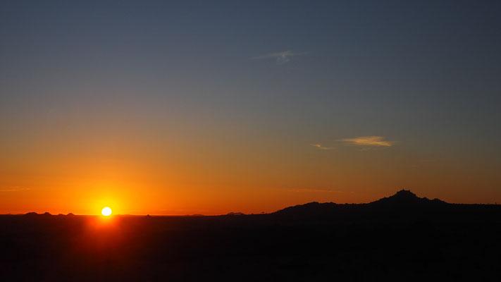 am frühen Morgen in Madisa