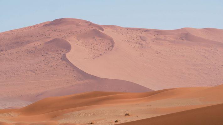 die Farbvariationen der Dünenlandschaft sind berauschend
