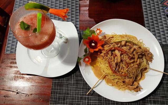 an das Essen in Costa Rica könnte man sich gewöhnen....
