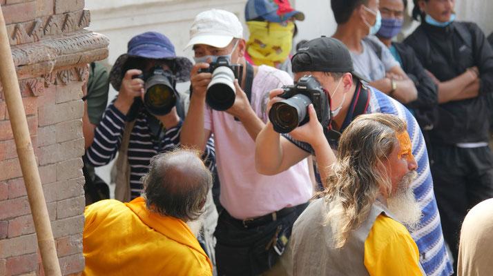 asiatische Touristen kennen oft keinen Anstand....Kathmandu, Nepal