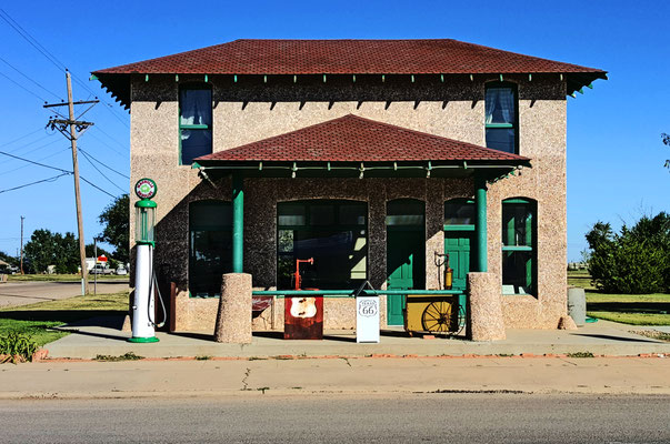 magnolia gas station, vega, texas