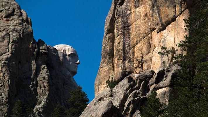 george washington, mount rushmore memorial, black hills, south dakota