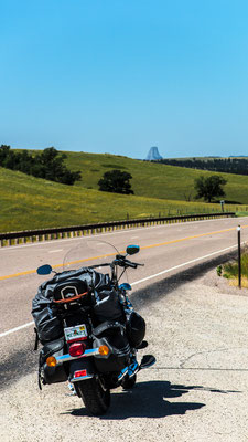 on the way to devils tower, wyoming