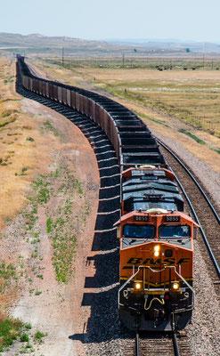 freight train, wyoming