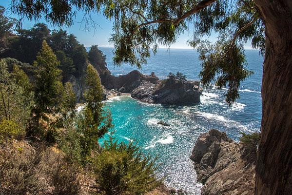 mcway falls, pfeiffer state park, hwy1, california