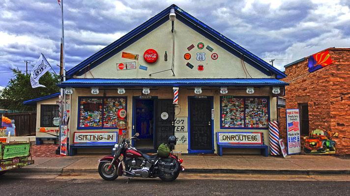 angel degadillo´s barber shop, route 66, seligman, arizona