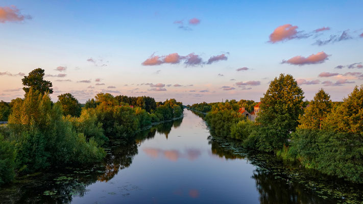 Pollesk (Labiau) Canal, towards Matrossowo (Gilge),  Kaliningrad Oblast, Russia