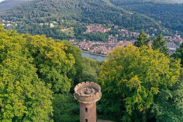 Heiligenberg, View over Heidelberg Castle, Heidelberg, Germany
