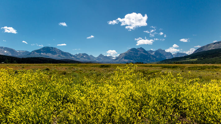 leaving glacier national park, montana