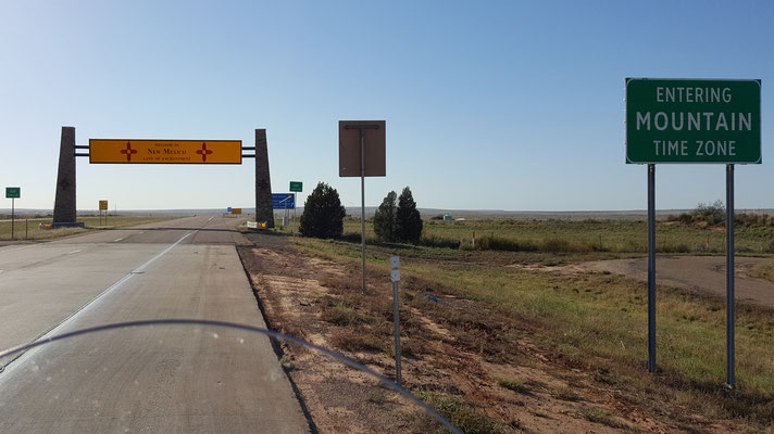 entering new mexico, land of enchantment..
