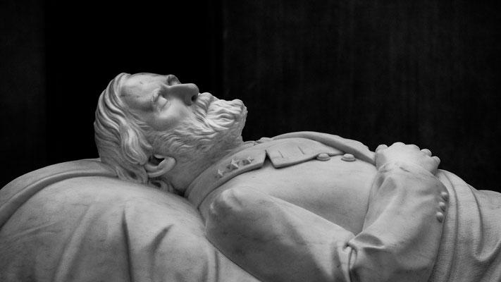 confederate general robert e. lee, lee chapel - detail, lexington, virginia