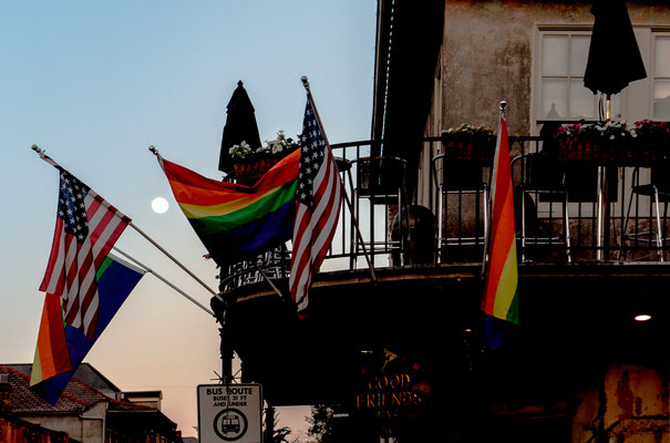 """moon over bourbon street"", new orleans, louisiana"
